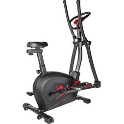 XtremepowerUS 2 in 1 Cardio Dual Trainer Elliptical Workout