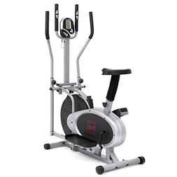 NEW Gray, Elliptical Bike 2 IN 1 Cross Trainer Exercise Fitn