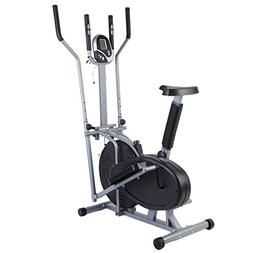2 in 1 Elliptical Cross Trainer Stationary Exercise Bike Hom
