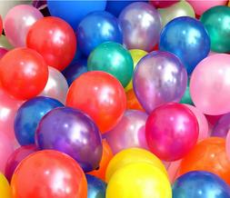 100pcs 10 inch Pearl Latex Colorful Thickening Wedding Party
