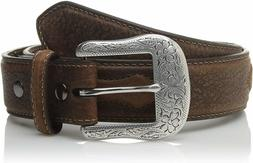 Ariat 176032 Mens Casual Oval Shield Western Belt Leather Br