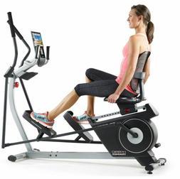 2-1 Elliptical Bike Recumbent Machine Stationary Hybrid Gym