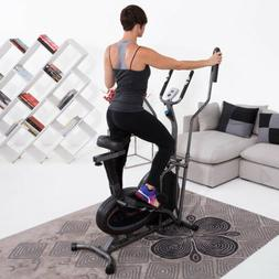 2-In-1 Air Elliptical/Exercise Bike Extended Dual Action Car