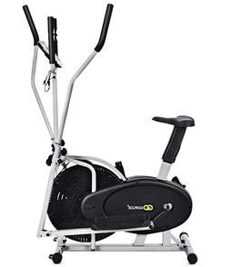GoPlus 2 in 1 Elliptical & Fan Bike Cross Trainer Machine w/