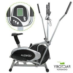2 in 1 Elliptical Bike Cross Trainer Exercise Machine Fitnes