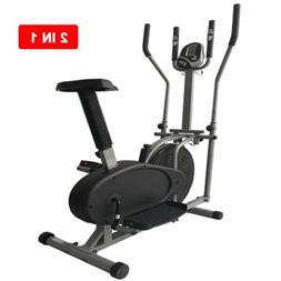 2 in 1 Elliptical Bike Cross Trainer Exerciser Fitness Worko