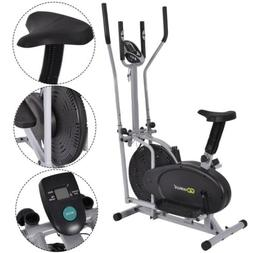 2 in 1 Elliptical Fan Bike Cross Workout Fitness Gym Trainin