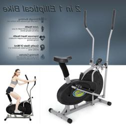 2 IN 1 Cross Trainer Elliptical Cardio Machine - Exercise Bi