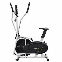 GOPLUS 2 in 1 Elliptical Fan Bike Dual Cross Trainer Machine