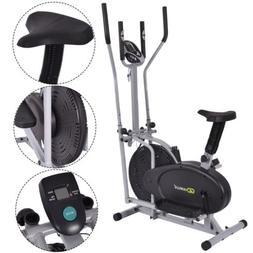 2 IN 1 Elliptical Fan Bike Dual Cross Sport Gym Trainer Work