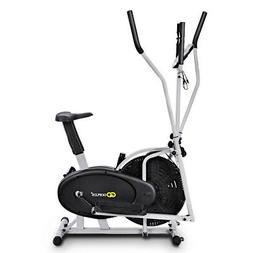 2 IN 1 Elliptical Fan Bike Dual Cross Trainer Machine Exerci
