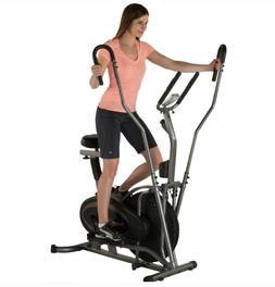 2 In 1 Elliptical Upright Exercise Bike Cardio Exercise Work