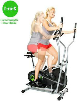 2 in 1 Fitness Machine Elliptical Upright Trainer Exercise B