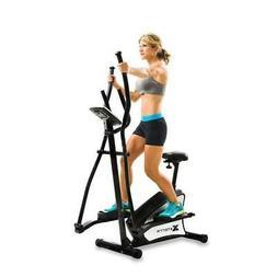2-In-1 Hybrid Elliptical Upright Bike Fitness Trainer Exerci