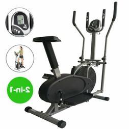2 IN1 ELLIPTICAL EXERCISE Stepper Machine Bike Trainer Cardi