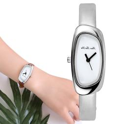 2019 <font><b>Elliptical</b></font> Silver Luxury Women Watc