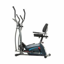 Body Champ 3 in 1 Trainer Machine w/ Elliptical, Upright Bik