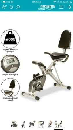 Exerpeutic 300 XLS Foldable Magnetic Upright Bike - Gold
