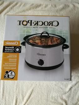 Crock-Pot 4.5 Quart Manual Slow Cooker, Silver SCR450-S
