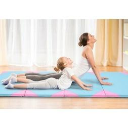 "4' x 10' x 2"" Thick Folding Panel Fitness Exercise Gymnastic"