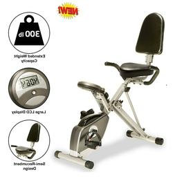 Exerpeutic 400Xl Folding Recumbent Bike With Performance Mon
