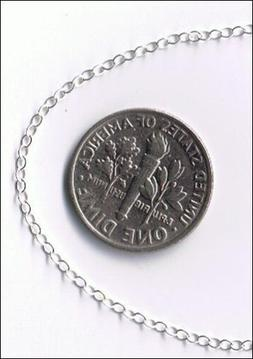 925 Sterling Silver Cable Chain Sold by-the-foot 1.5mm Drawn