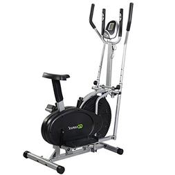 Goplus 2 IN 1 Elliptical Bike Dual Cross Trainer Machine Exe