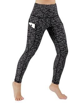 ODODOS High Waist Out Pocket Yoga Pants Tummy Control Workou