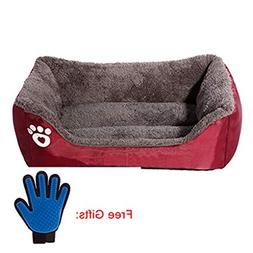 Pet Dog Bed Warming Dog House Soft Material Pet Nest Dog Fal