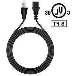 FITE ON 5ft AC IN Power Cord Outlet Socket Cable Plug Lead