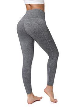 Athletic Leggings Heather Grey High Waisted- Olacia Tummy Co