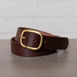 Maximum Henry Belt Size XS Dark Brown w/ Oval Brass Buckle