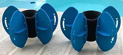 AquaLogix Blue Max Resistance Aquatic Fins - Omni-Directiona