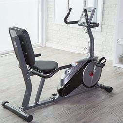 Body Champ BRB5890 Magnetic Recumbent Exercise Bike, Silver