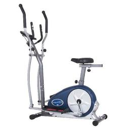 Body Champ BRM3671 Elliptical Dual Trainer with Seat, Silver