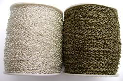 BULK Chain Cable Gold Silver Antiqued Brass Bronze 2x3mm 3x2