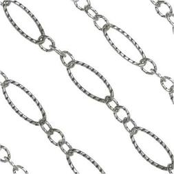 Bulk Long Short Cable Chain, Oval Links 8mm Long, By the Foo