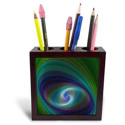 3dRose David Zydd - Colorful Abstract Designs - Elliptical E