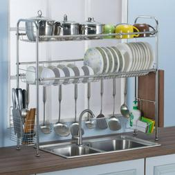 dish drying rack over sink display drainer