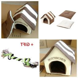Dog House Pet Bed Soft Material Nest Fall And Winter Warm Pu
