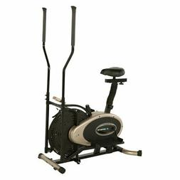 Exerpeutic Elliptical and Exercise Bike Dual Trainer, Black