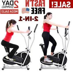 Elliptical Dual Cross Trainer Machine Fan Bike Home Fitness