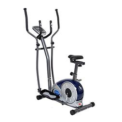 Elliptical Dual Trainer with Seat Steel Exercise Bike Adjust