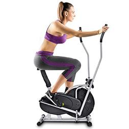 Goplus Elliptical Fan Bike 2 in 1 Dual Cross Trainer Machine