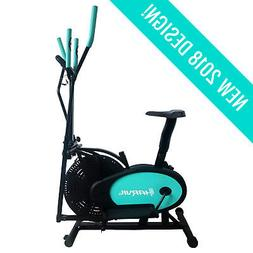 Elliptical Machine Trainer Bike Womens Mens Workout Home Gym