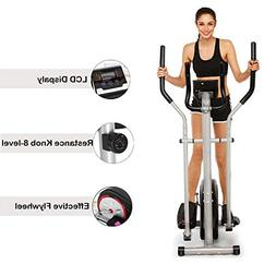 Elliptical Trainer Machine with LCD Monitor Magnetic Control