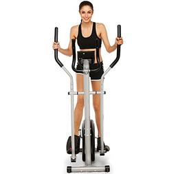 shaofu Magnetic Control Mute Elliptical Trainer with LCD Mon