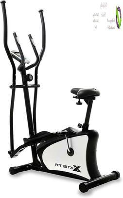 Xterra Fitness Eu100 Hybrid Elliptical/Upright Bike, Black