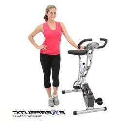 Exerpeutic Folding Stationary Exercise Bike Pulse Monitor Ma