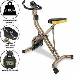 Exerpeutic Gold 500 XLS Foldable Upright Bike 400 lbs Withou